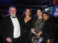 From left to right: KHRP Chair, Michael Ivers, Development & Outreach Officer, Anna Irvin, Managing Director, Rachel Bernu & Resources & Communications Manager, Pranjali Acharya